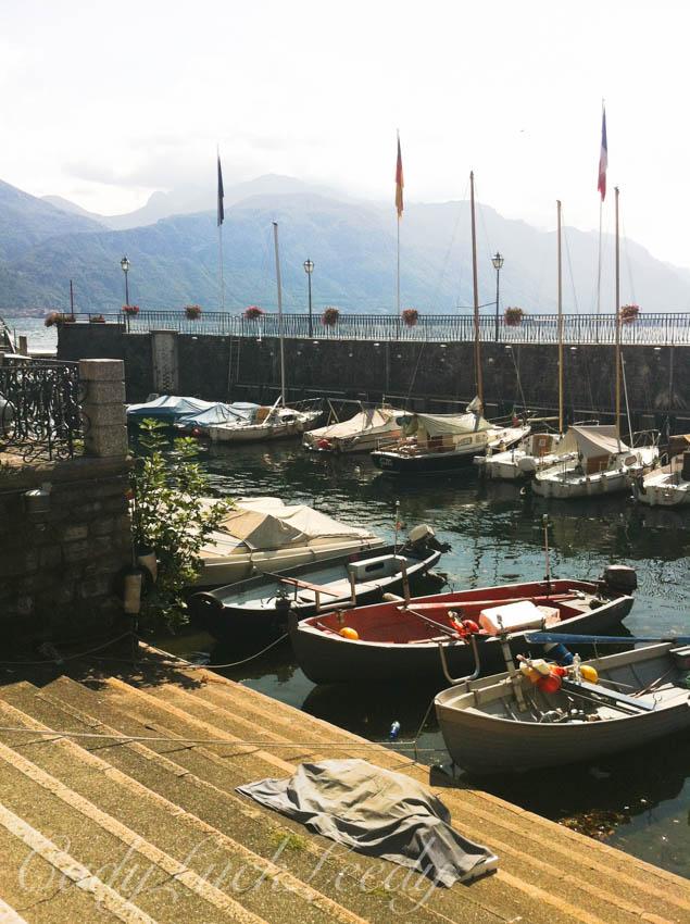 Boats Docked in Menaggio, Italy