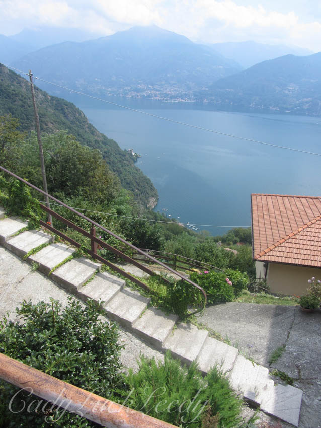 View from the Apartment on Menaggio, Italy