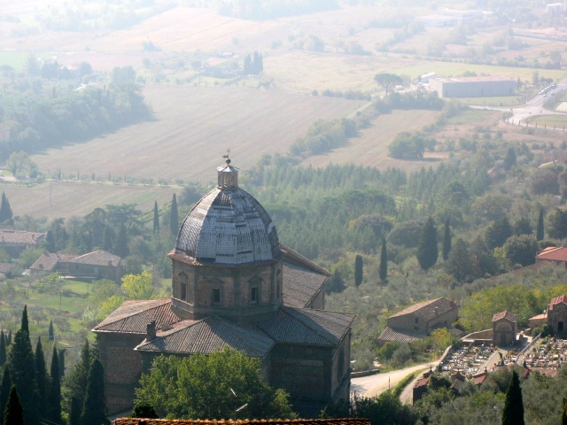The Church Below Cortona