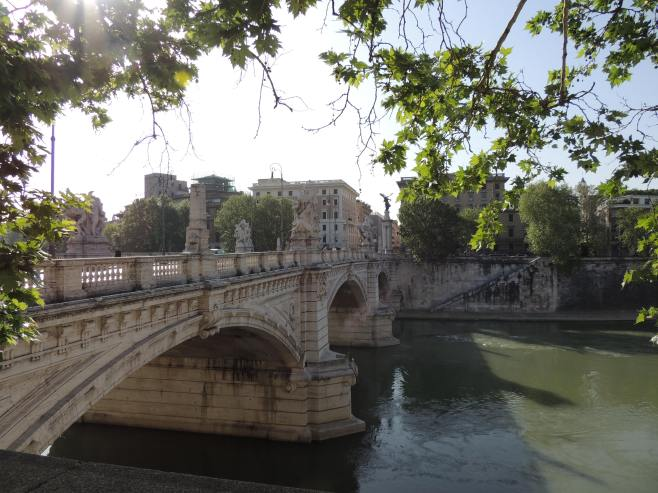 A Bridge Over the Tiber River