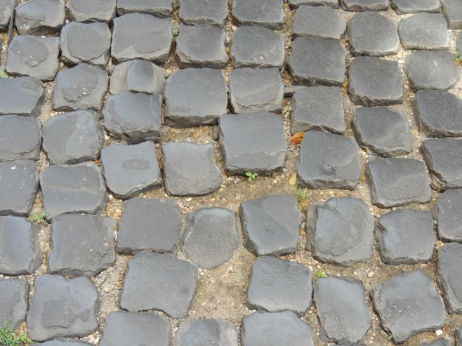 The Cobblestone Streets of the Historic Center of Rome