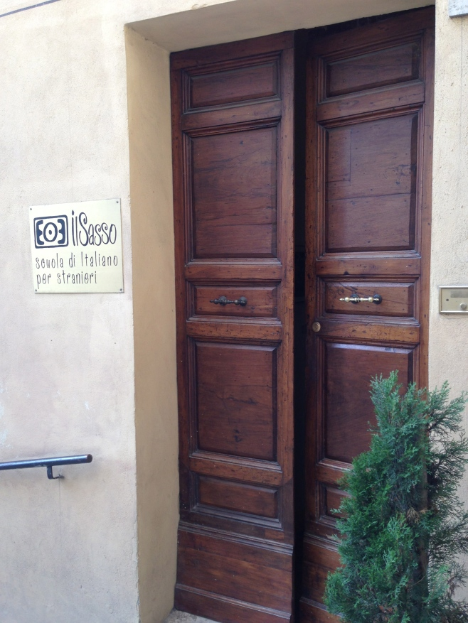 The Front Door of Il Sasso, Italian Language School