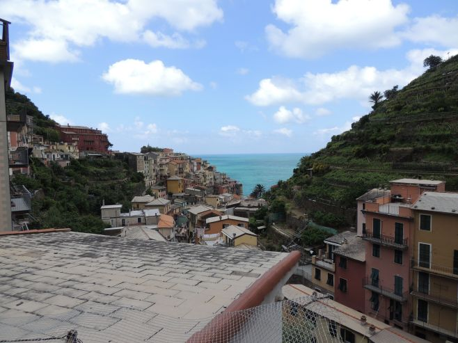 A View from the Hilltop at Manarola