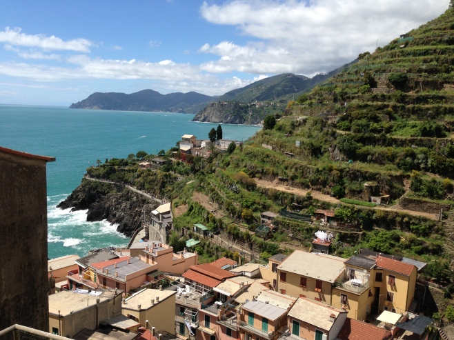 Our Patio View of Manarola