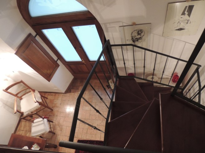 Looking Down from the Bedroom Loft at Michealangeli B&B