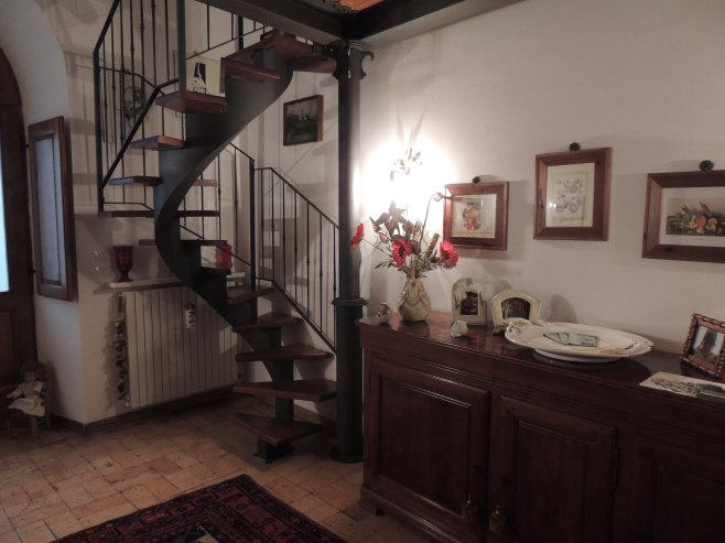 The Spiral Stairway to Bedroom 1 at Michealangeli B&B
