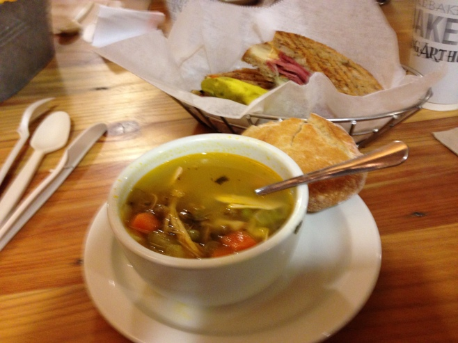 Soup and Sandwich at King Arthur's Bakery