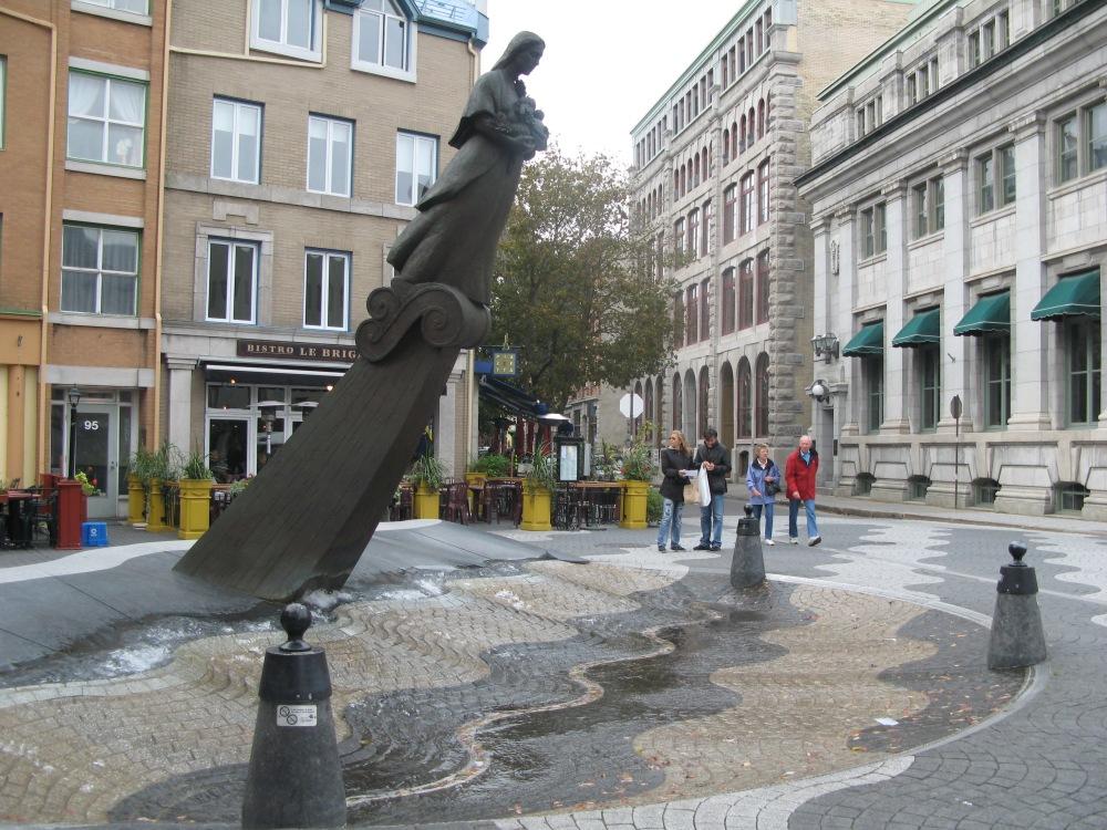 Fountain in Vieux Quebec
