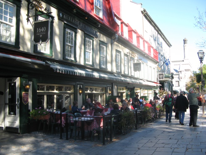 Quebec City Canada Cafe