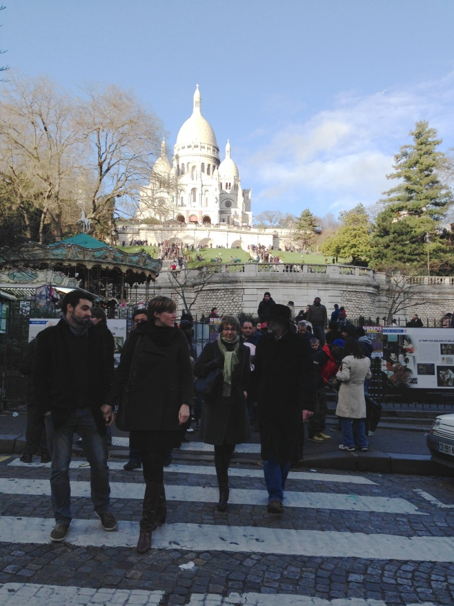 Walking Up the Steps to Sacre-Couer