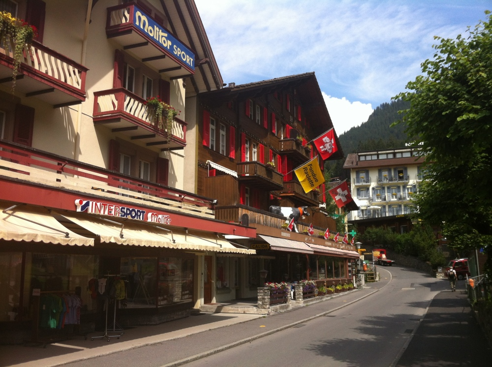 Main Shopping Area of Wengen