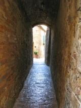 Narrow Street in Pienza