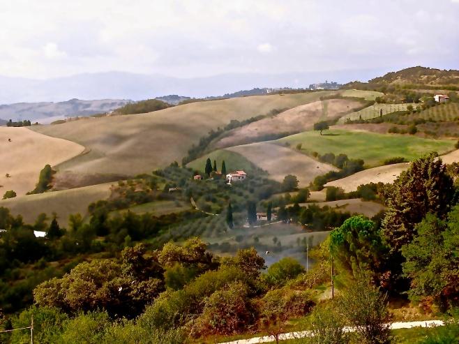 The Drive to San Casciano dei Bagni