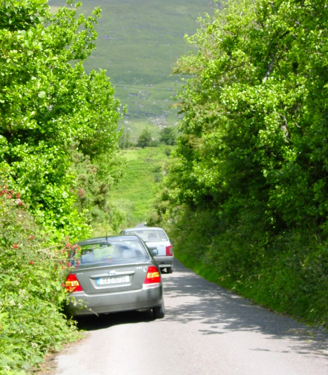 Traffic on west coast of Ireland