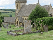 St Barnabus Church in Snowshill, Uk