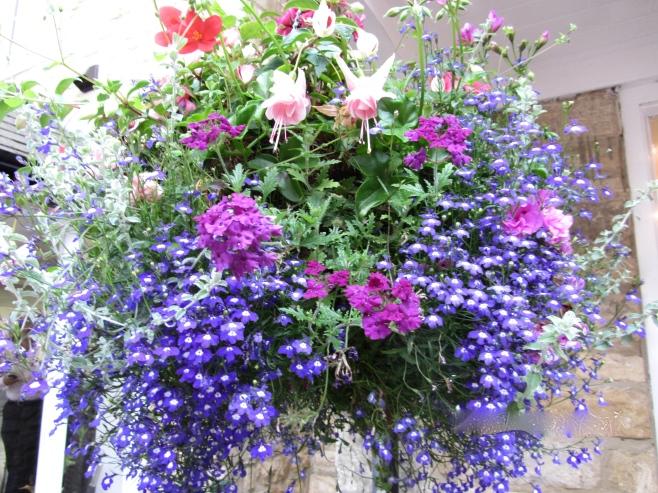 The Beautiful Flower Baskets of Broadway, UK