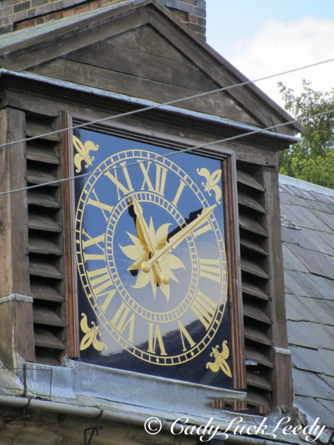 Clock on Kinlet Hall, Kinlet, UK