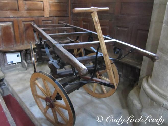 An Antique Casket Carrier, St John's Church, Kinlet, UK