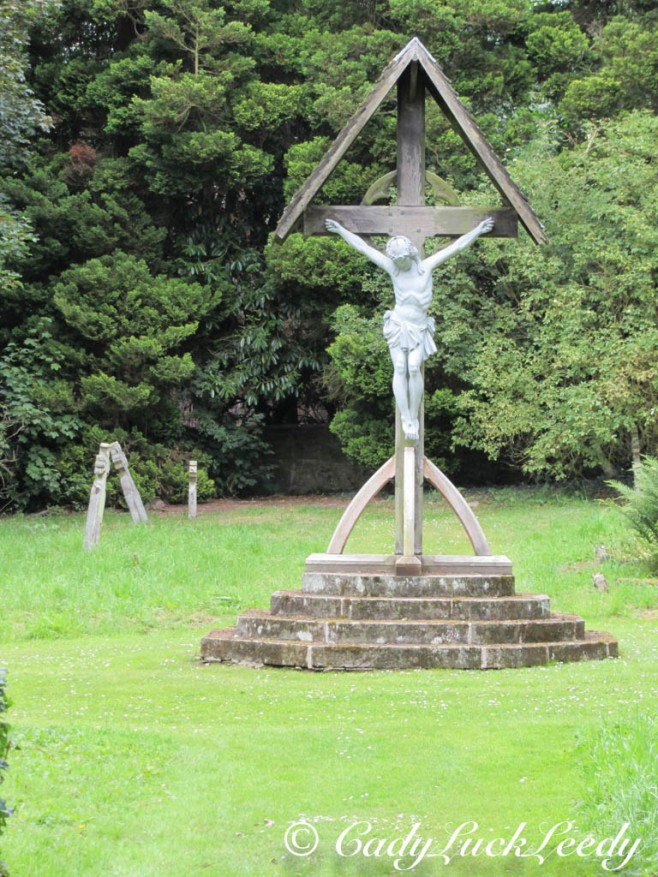 Cross at St Mary's Church, Acton Burnell, England
