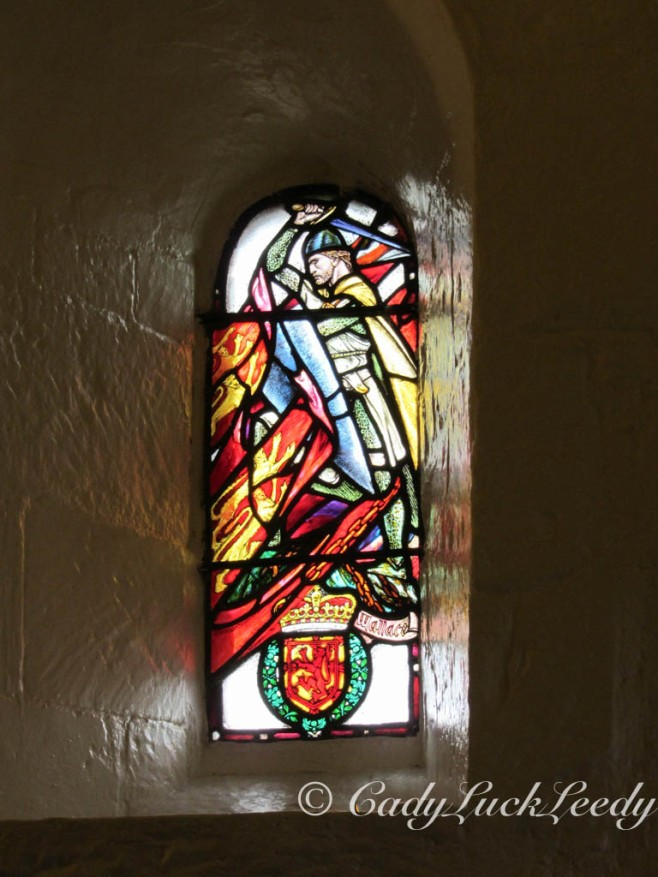 Window in St Margaret's Chapel, Edinburgh, Scotland
