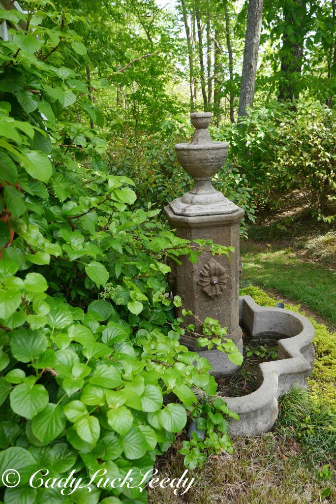 Cottage Garden Fountain April 2014