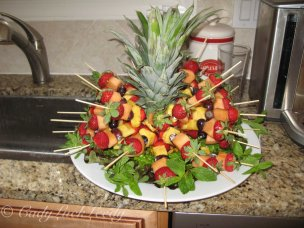 Pineapple Strawberry Kabob
