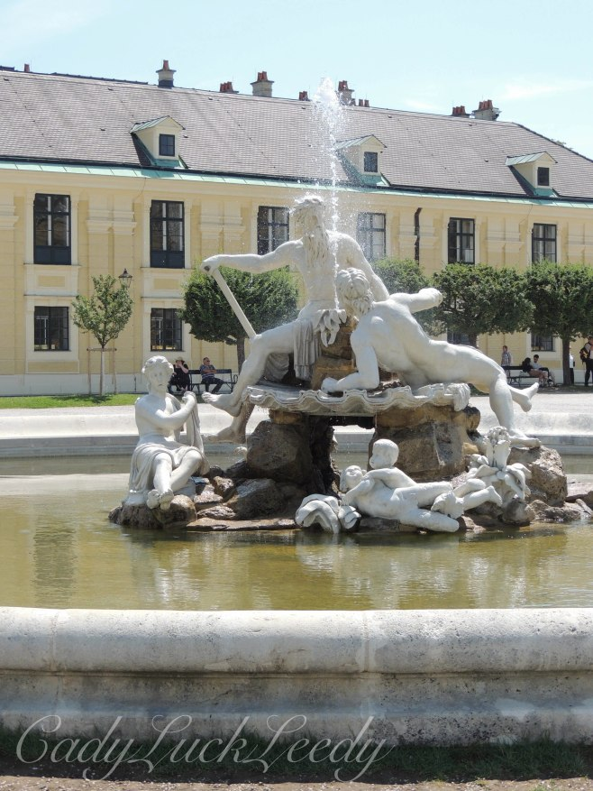 One of Many Fountains at Schönbrunn Palace, Vienna, Austria