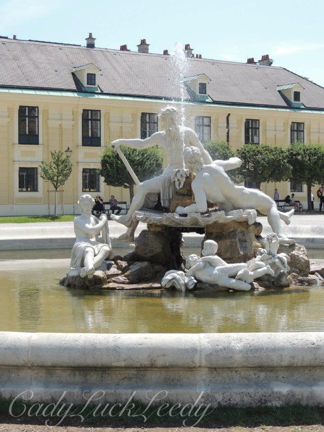 One of Many Fountains at Schönbrunn Palace, Vienna, Austria