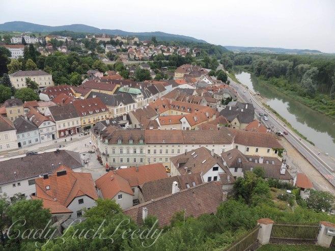 View from Melk Abbey, Melk, Austria