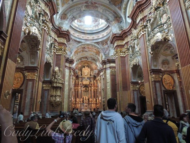 The Rose Colored Marble of Melk Chapel Melk Abbey, Austria