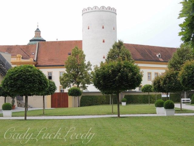 The Grounds of Melk Abbey, Entering the Gardens, Melk, Austria