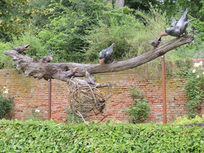 The Blackbirds of the Melk Abbey Gardens, Melk , Austria