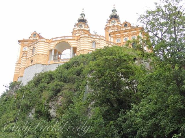 Looking up at Melk Abbey, Melk, Austria