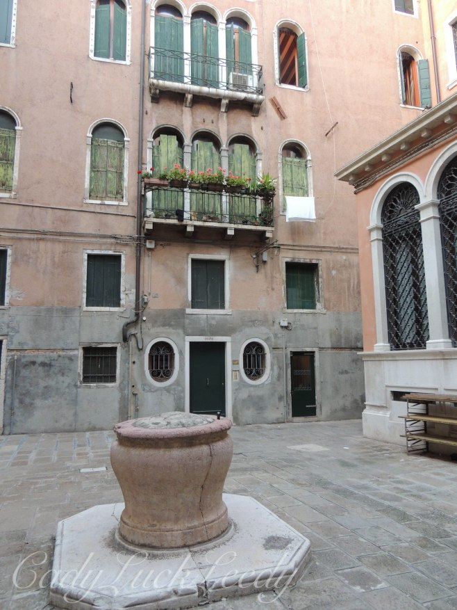The Courtyard to Locanda Orseolo, Venice, Italy