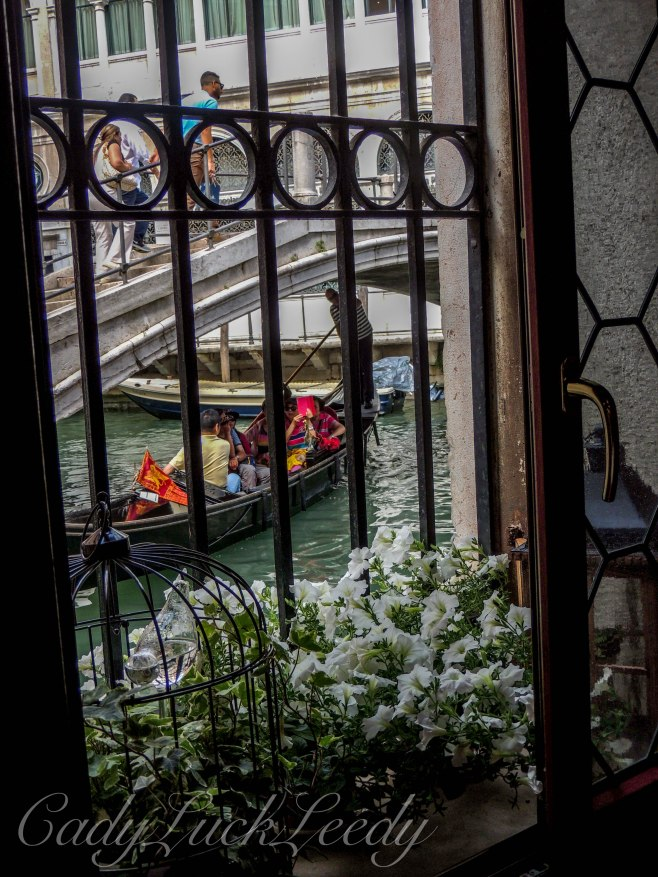The Breakfast Window, at Locanda Orseolo, Venice, italy