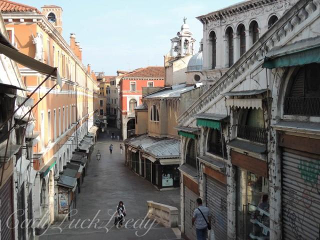 Walk Over Rialto Bridge to the Market, Venice, Italy