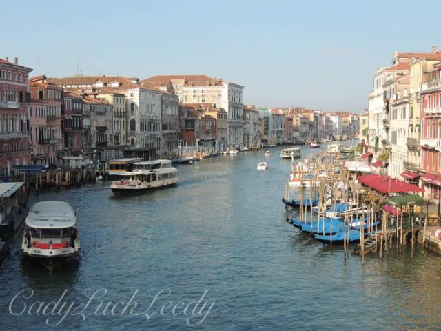 Walking to the Rialto Bridge, Venice, Italy