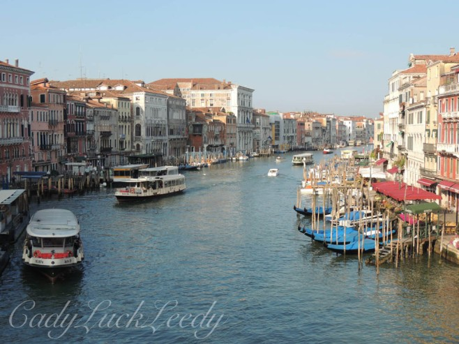Walking to the Rialto Bridge, Venice, Italy