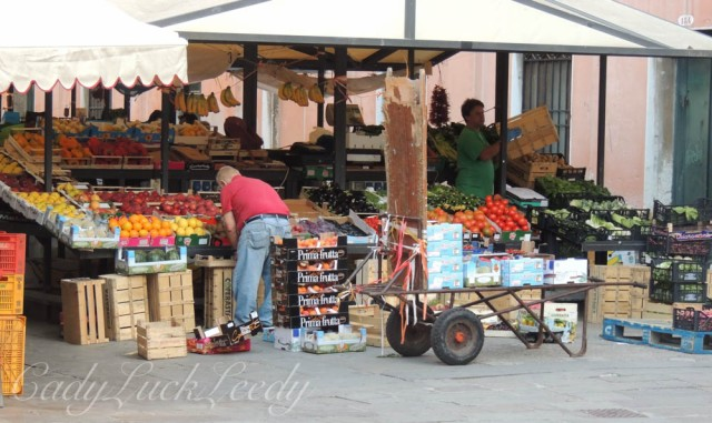 Getting Ready to Open at the Rialto Market, Venice, Italy
