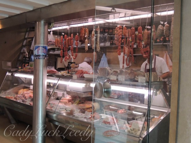 The Meat Market at the Rialto Market, Venice, Italy
