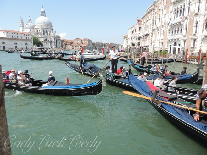 Traffic Jam on the Grand Canal, Venice, Italy