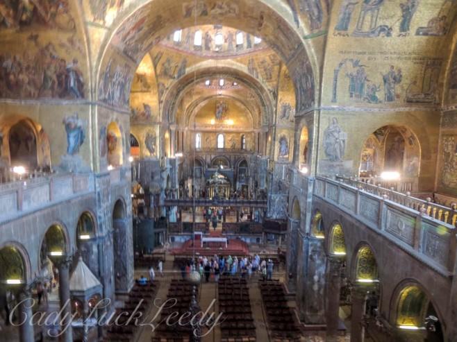 Inside St Mark's Basilica, Venice, Italy