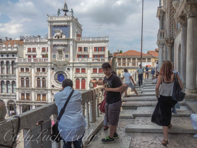 The Walkway around St Mark's Basilica, Venice, Italy