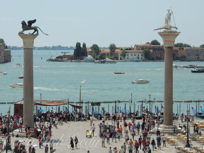 A View of the San Marco Column and the San Theodore Column