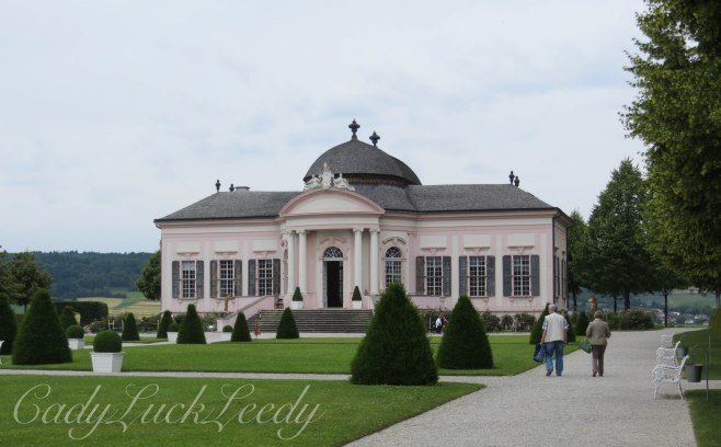 The Pink Pavillion in the Gardens of Melk Abbey, Melk, Austria