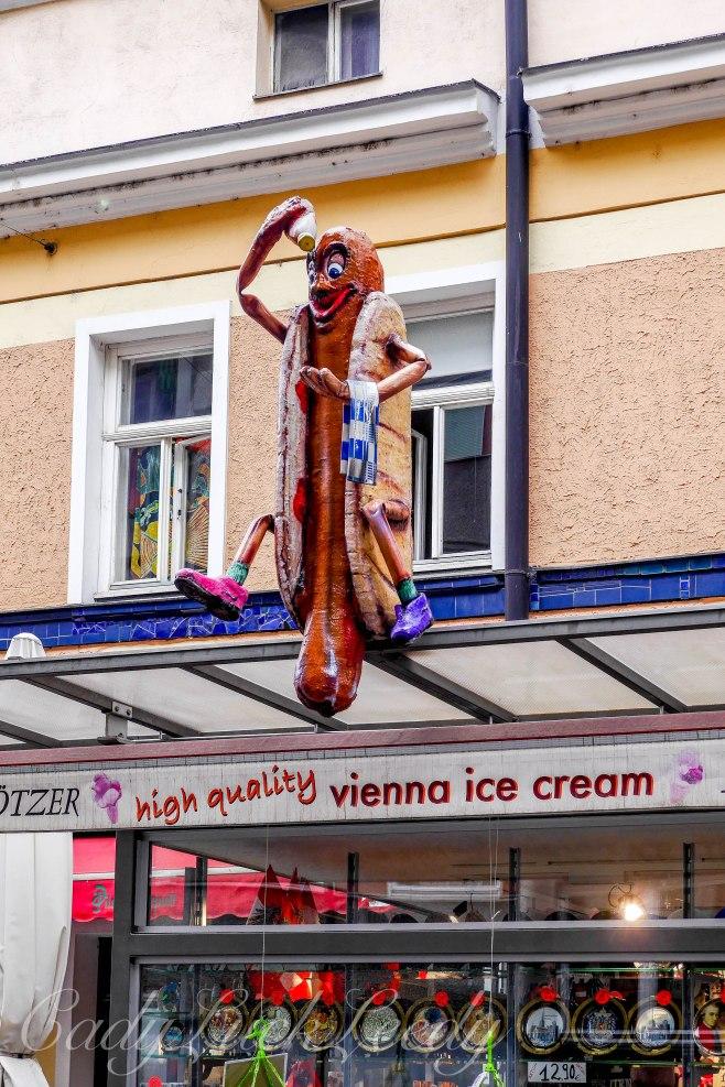Quirky Restaurant in Hundertwasser Neighborhood, Vienna, Austri