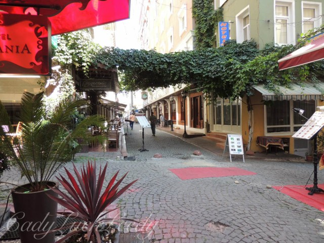 The Cross Street of  Hotel Sultania, Istanbul, Turkey