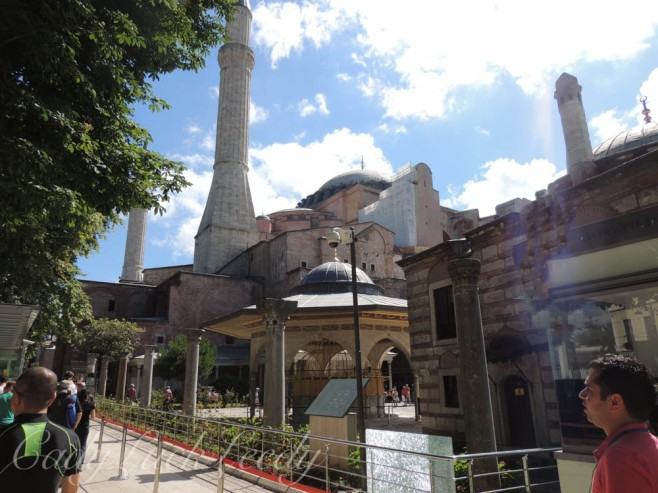 A View in the Courtyard of Hagia Sophia, Istanbul, Turkey