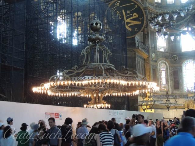 Huge Chandeliers, Hagia Sophia, Istanbul, Turkey