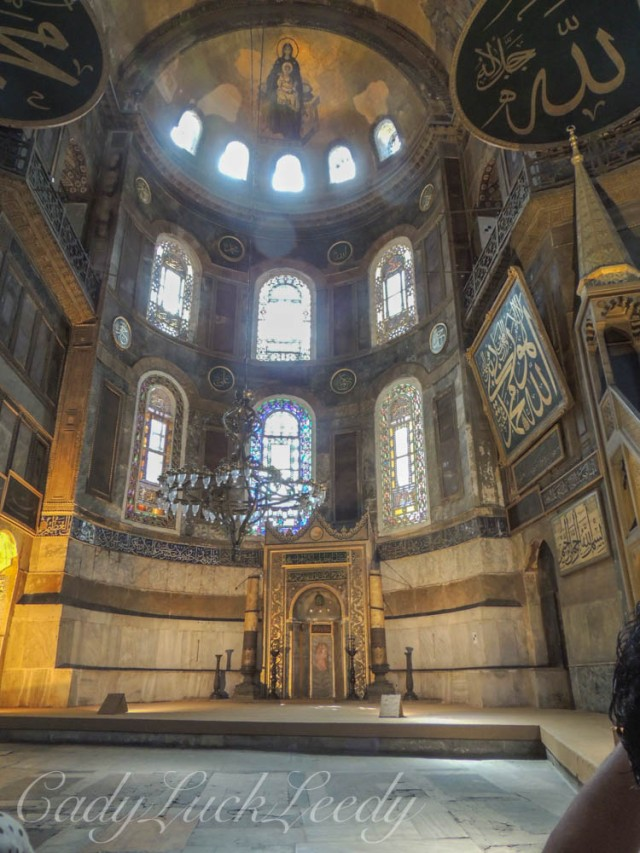 The Nave of Hagia Sophia, Istanbul, Turkey